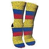Jesse Tobias Colombia Flag Puzzle Crazy Socks 3D Crew Socks