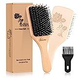 Best Boar Bristle Hair Brushes - Bsisme Hair Brush-Boar Bristle Hairbrush with Detangling Pins Review