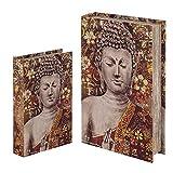 Vidal Regalos Caja con Forma de Libro Set 2 Unidades Buda 26x17 cm