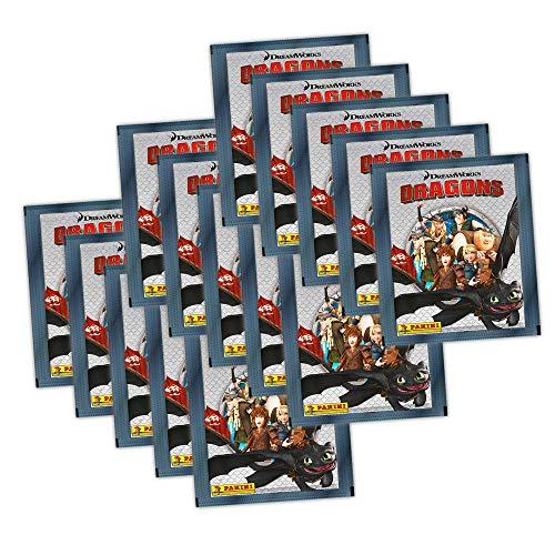 Dragons Die Chroniken Panini Sammelsticker - 15 Booster Tütchen 75 Sticker