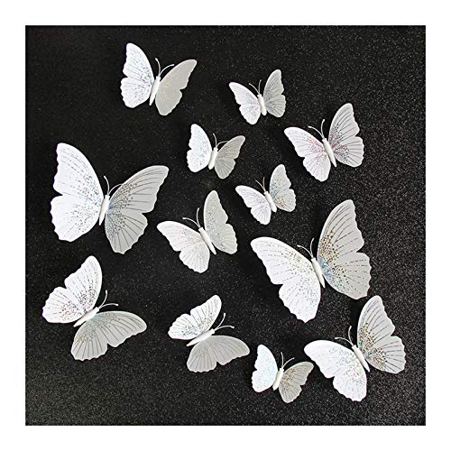 Benedict 12PCS Simulation Color Butterfly Wall Decor Fridge Magnets 3D Butterflies Wall Stickers for Home Decorations