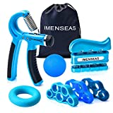 IMENSEAS Hand Grip Strengthener 7 Pack Adjustable Hand Gripper, Finger Stretcher Resistance Extensor...