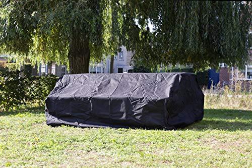 MaximaVida Schwarze Schutzhülle für Picknicktisch und Bierzeltgarnitur 150-180 cm - 600 Gramm schwere Ausführung