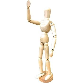〔m-stone〕 デッサン人形 木製 30cm 人形 モデル ドール 美術 スケッチ デッサン 人形 関節 可動 絵画