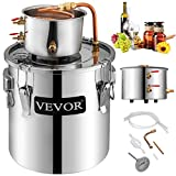 VEVOR Moonshine Still 9.6Gal 38L Stainless Steel Water Alcohol Distiller Copper Tube Home Brewing...