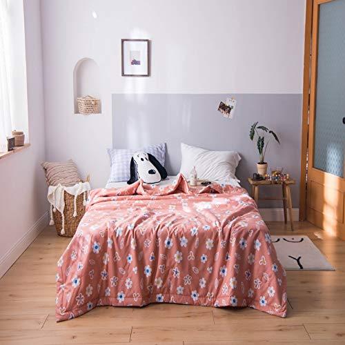 Bed deken deken bed benodigdheden bed lakens woonkamer fauteuil balkon kantoor kinderkamer slaapkamer multifunctioneel dubbelzijdig zomer dutje roze bedrukking