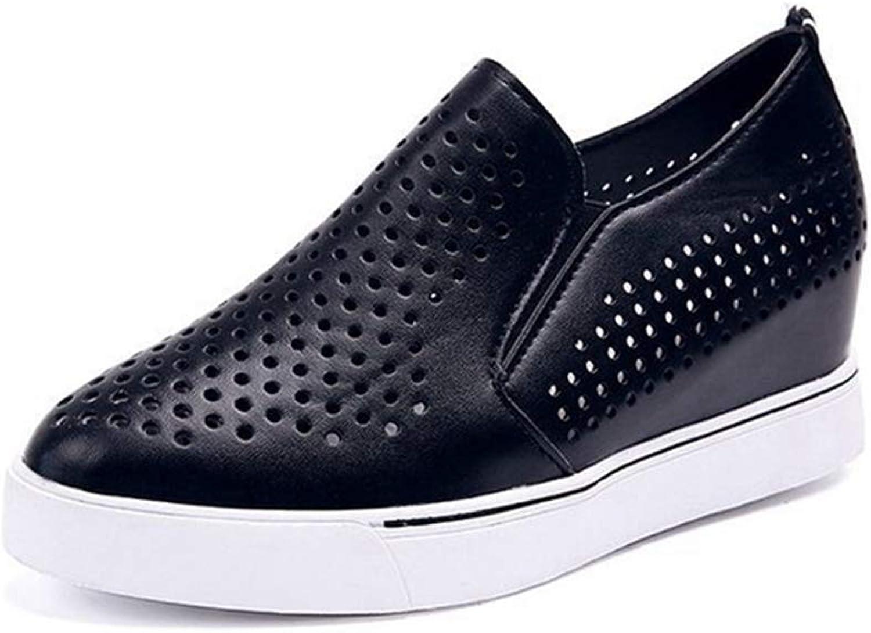 DOSOMI kvinnor Wedges skor skor skor Height Ökande Tjock Sole Slip på Laty Loafers Andbar Casual utomhus Wedges skor  Alla varor är specialerbjudanden