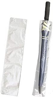 mollensiuer 100Pcs Clear Disposable Wet Umbrella Bags Replacement Long Bag Refills