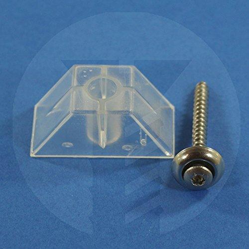 100Stck Abstandhalter Trapezprofil 70/18 + 100 Spenglerschrauben 4,5x55 A2 V2A