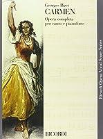 Partitions classique RICORDI BIZET G. - CARMEN - CHANT ET PIANO Voix solo, piano