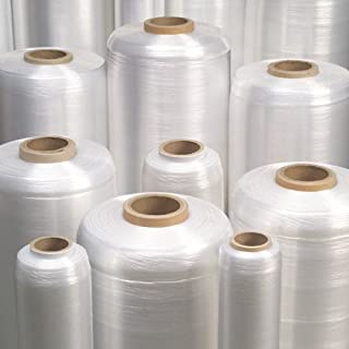 COSTWAY 450mm x 457m Strong Pallet Stretch Shrink Wrap Clear Rollers for Packing Parcel /& Boxes Cling Film 60 Gauge//15 micron 4 Rollers