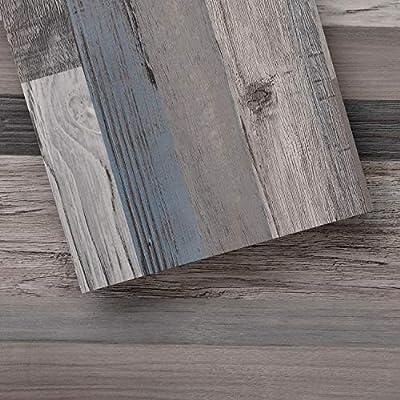 Luxury Vinyl Floor Tiles by Lucida USA | Peel & Stick Adhesive Flooring for DIY Installation | 36 Wood-Look Planks | BaseCore | 54 Sq. Feet
