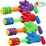 JOYIN 4 pc Water Gun Water Blaster Soaker Summer Toys Squirt Gun Set for Water Activities and Swimming Pool Party