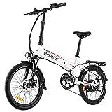 Vivi Vélo électrique Pliant, 20' Velo Electrique 350W Ebike, E-Bike pour Adultes avec Batterie Lithium-ION 36V 8Ah Amovible, Shimano Dérailleur a 7 Vitesses