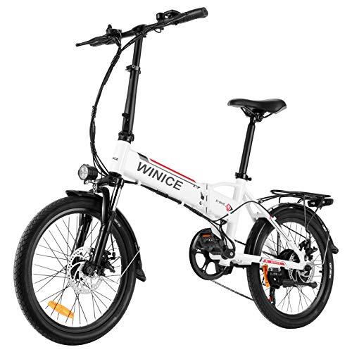 Vivi Bicicletta Elettrica Pieghevole, 20 Pollici Bici Elettriche 250W Ebike, Bici Elettrica per Adulti con Batteria Rimovibile agli Ioni di Litio da 36V 8Ah, Shimano a 7 velocità, Freni a Doppio Disco