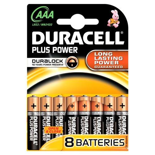 Duracell Plus AAA-Batterien, 8 Stück