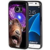 S7 Case,Galaxy S7 Case,AIRWEE Slim Anti-Scratch Shockproof Silicone TPU Back Protective Cover Case for Samsung Galaxy S7, Funny Space Goat Meme