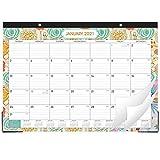 2021 Desk Calendar - Desk Calendar Desk/Wall Monthly Calendar Pad, 17' x 12' Desk Pad Calendar, 12 Monthly Colorful Designs(1 Pcs)
