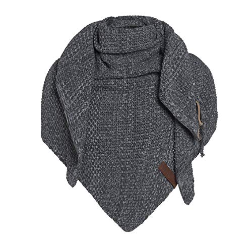 Basic.de Damen-Schal XXL Knit Factory Coco Oversize Strick, Melange Anthrazit/ Grau, Einheitsgröße