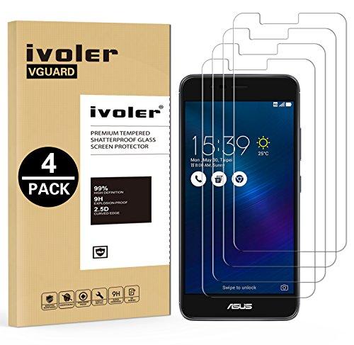 ivoler [4 Unidades] Protector de Pantalla para ASUS Zenfone 3 MAX ZC520TL...