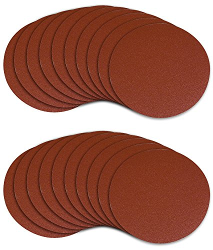 POWERTEC 45506 5-Inch PSA 60 Grit Aluminum Oxide Adhesive Sanding Disc, 20-Pack