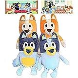 28 cm Puppet de peluche azul, muñeca de juguete animada, el tema es el hogar Educación infantil, decoración de la habitación y regalos de cumpleaños (bingo madre y padre) b, color: bluedad + bingomom