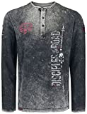 Rock Rebel by EMP Through The Glass Hombre Camiseta Manga Larga Gris Oscuro 4XL