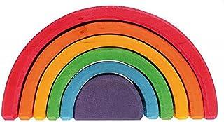 "Grimm's 6-Piece Rainbow Stacker - Nesting Wooden Waldorf Blocks, ""Elements"" of Nature: AIR"