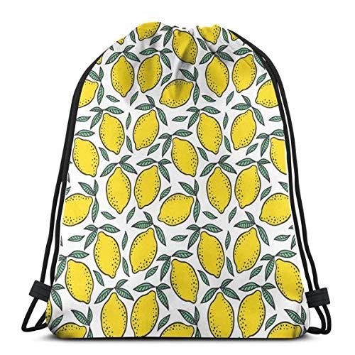 Frutas preciosas frescas Limón Drstring Bolsas Ligero Gimnasio Deporte Bapa para Viajes Playa
