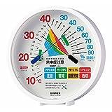 エンペックス気象計 温度湿度計 環境管理温湿度計 【熱中症注意】 置き掛け兼用 日本製 ホワイト TM-2484