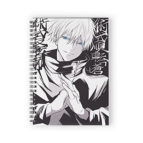 Satoru looking Spiral Notebooks 160 Pages, Pages with Premium Thick Paper, Strong Twin-Wire Binding for College Students and Office