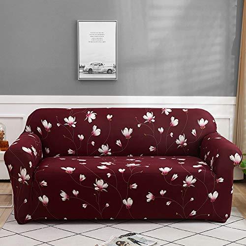 ASCV Funda de sofá Floral Funda de sofá elástica para Sala de Estar Sofá de Esquina seccional Moderno Funda de sillón Funda de sofá A5 1 Plaza