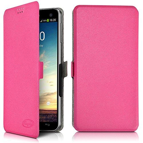 Karylax Seluxion - Funda tipo libro universal para Samsung Galaxy J5 (2017), color rosa