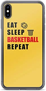 Compatible for iPhone 6/6s Cover Case Eat, Sleep, Basketball, Repeat Unique Graphic, Clear Anti-Scratch