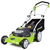 Durable 20-Inch Steel Deck Powerful 12 Amp Motor 3-In-1 (Mulching, Side Discharge, and Rear Bag) 7-Position Single Lever Height Adjustment Push Button Start. Drive system: manual Foldable Handles For Compact Storage 10-Inch Rear / 7-Inch Front Wheels...