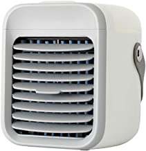 Blaux Portable AC - Personal Mini Air Conditioning Units with Handle, USB 2000mAh Battery Rechargeable, Wearable 3 Speeds Air Cleaner for Home, Office, Room - Rapid Cooling In Just 30 Seconds (White)