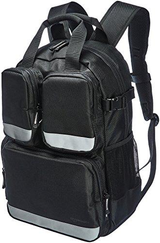 Amazon Basics - Mochila para herramientas, 23 bolsillos con 3 bolsillos delanteros