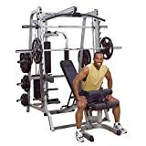 inSPORTline Multi-Gym Body-Solid DELUXE GS348QP4 | Suitable Professional Gym Machine | Muscle Mass Developer 7 Angle Exercises Smith Machine