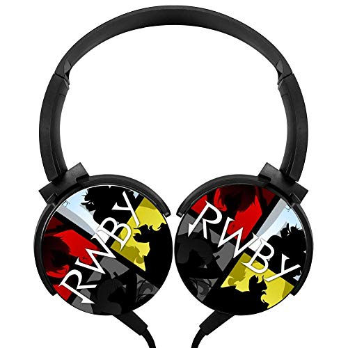 Rotation Axis Design Wired Headset Ruby Rose RW-by Stereo Headphone