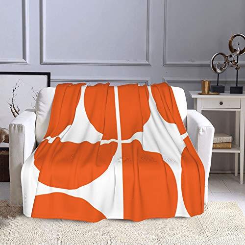KCOUU Manta de forro polar de 50 × 60 pulgadas a mediados de siglo moderna y acogedora manta decorativa para sofá, cama, sofá, viajes, hogar, uso en la oficina en todas las estaciones