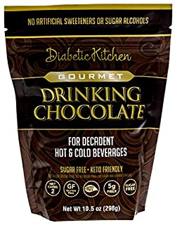 Diabetic Kitchen Gourmet Drinking Chocolate is Sugar-Free, Keto-Friendly, Low-Carb Cocoa, No Artificial Sweeteners or Suga...