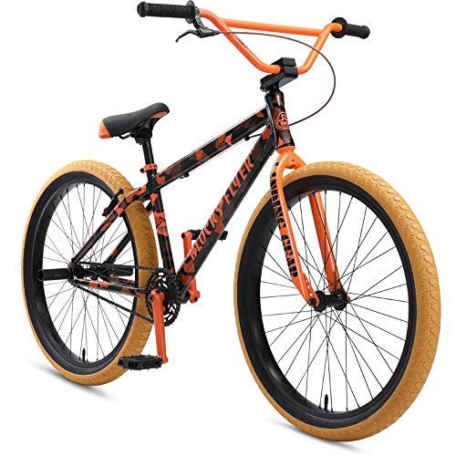 SE Bikes 2021 Blocks Flyer 26 Inch Complete Bike Orange Camo