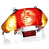 NTHREEAUTO Rear Brake Tail Light Universal Turn Signal Taillight Compatible with Gy6 Tao Tao Sunny ATM50 50cc 125cc 150cc Scooter Moped
