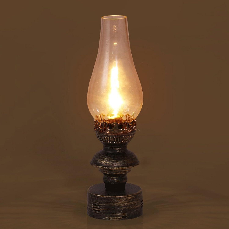 Amerikanische Retro LOFT LOFT LOFT Art-Tabellen-Lampen-Land Nostalgische Industrielle Art-Wohnzimmer-Schlafzimmer-kreative Einzelne Tabellen-Lampen-Eisen-Glas 15.3  4.3 Zoll-Presse-Schalter E14 B06XZJWFS6 | Gutes Design  6fae98