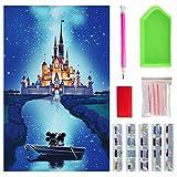 Kit de pintura de diamante 5D con taladro completo, kits de arte de diamantes con nuevas herramientas de actualización, kits de arte de cristal para adultos y niños regalos (40 x 30 cm)