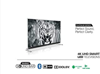 """Nikai 65"""" 4K Smart Android TV with Sound Bar, UHD6501SLEDT"""