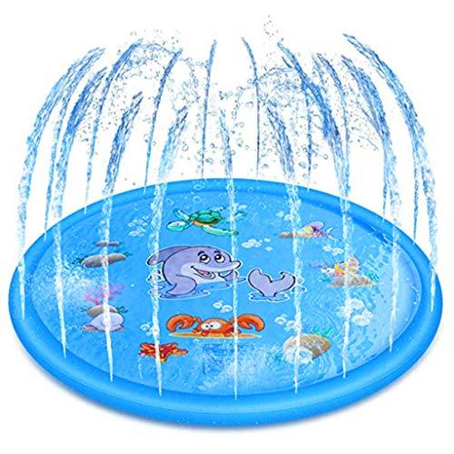 Gogokids Kinder Splash Pad Wasserspielmatte - 170cm/67in Wasserspielzeug Sprinkle Play Matte Planschbecken...