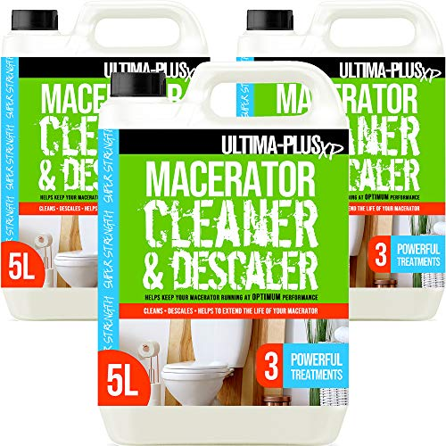 Ultima-Plus XP Toilet Macerator Cleaner and Descaler - Deeply Cleans Toilet Macerators and Removes Limescale - Compatible with All Saniflo Pump Units, Toilets & Urinals (15 litres)