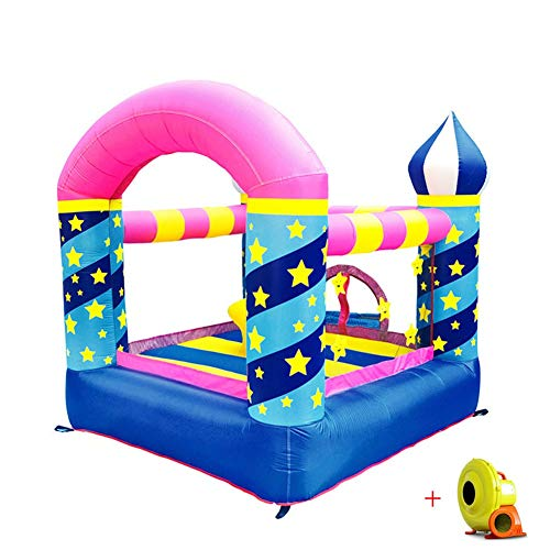 LYYAN Professional Bouncy Castle Inflatable Stars Pattern Children Inflatable Trampoline Activity Play Center Outdoor House Jumper Water Slide Combo?Garden 230 * 220 * 195CM Durable