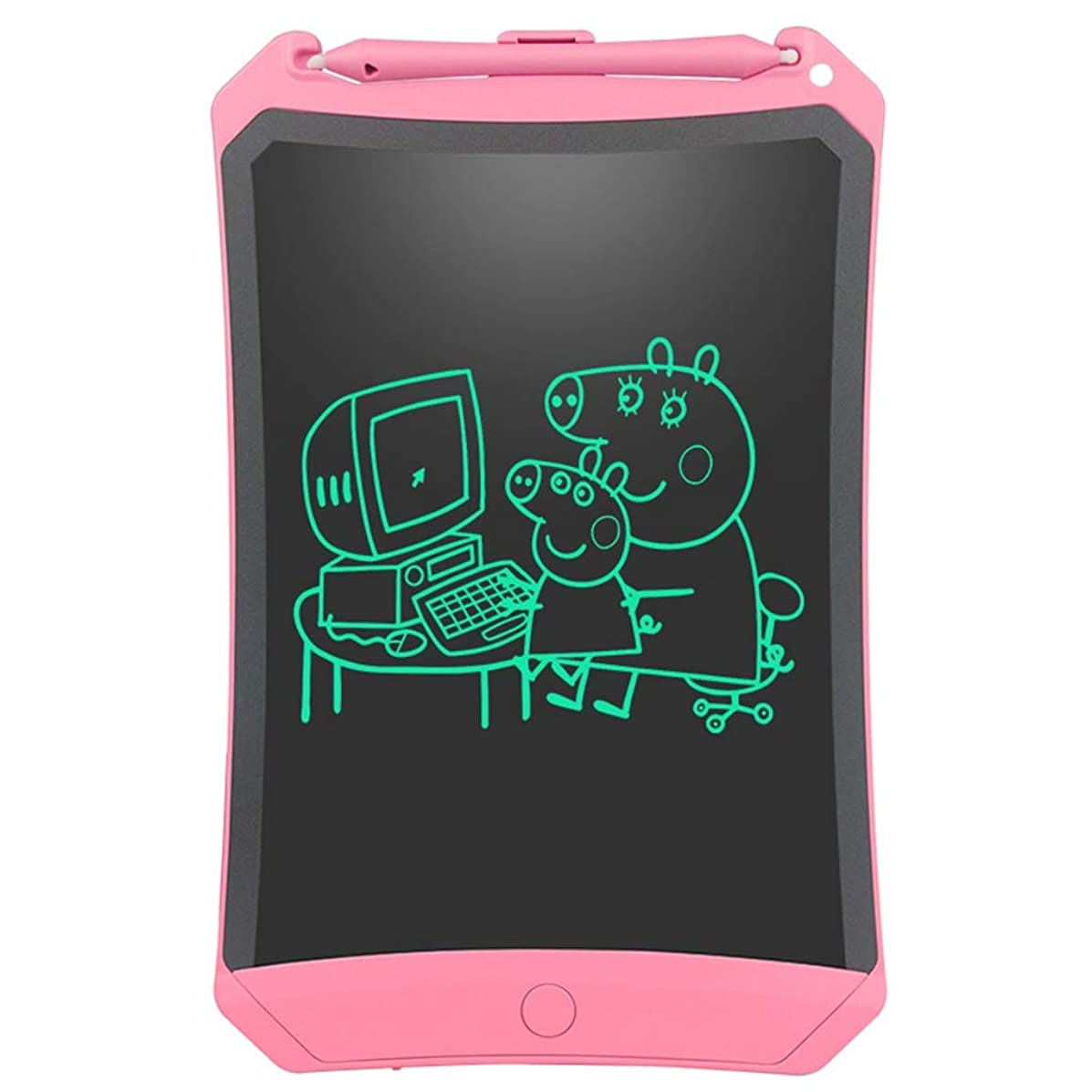 Electronic Writing Board/LCD Writing Board/Children's Drawing Graffiti Board/with Lock Screen, Magnet/Suitable for Home, Office, School (Pink, Blue - 8.5 Inch)